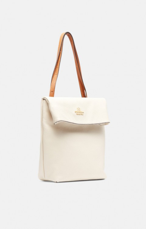 Batoh / shoulder bag Smoothie | beige - CUOIERIA FIORENTINA